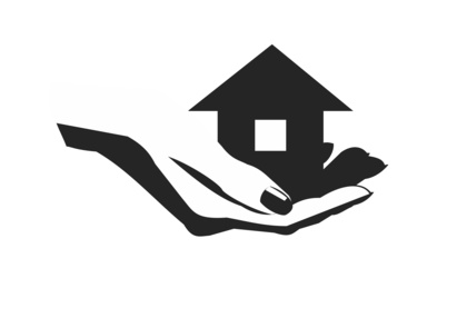 woman's hand holding out a house
